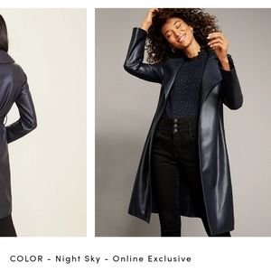 Ann Taylor Faux Leather Trench Coat